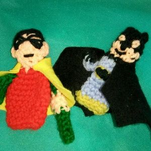 Batman and Robin finger puppets